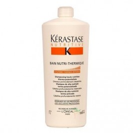 Kerastase Shampoo Nutritive Bain Nutri Thermique 1000ml - Cabelos Profundamente Ressecados + Frete Grátis