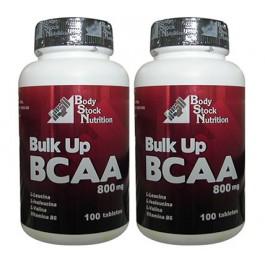 BCAA Hipertrofia Muscular - Bulk Up BCAA 800 mg ( 2x100 tabletes)