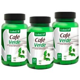 Café Verde 400 mg Kit 3x60 Cápsulas - Queima Gorduras + FRETE GRÁTIS