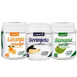 Kit Fibras - Berinjela + Laranja Amarga + Banana Verde + Frete Grátis