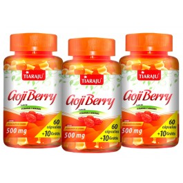 Goji Berry 500 mg 70 Cápsulas Kit 3 Un - Emagrecimento - Antioxidante + FRETE GRÁTIS
