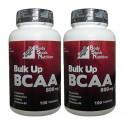 BCAA 800 mg Hipertrofia Muscular - Kit 2x100 tabletes + FRETE GRÁTIS